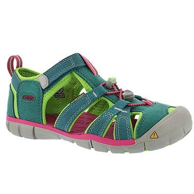 Keen Girls' SEACAMP II everglade sandals