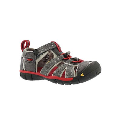Keen Infants' SEACAMP II grey/red sport sandals