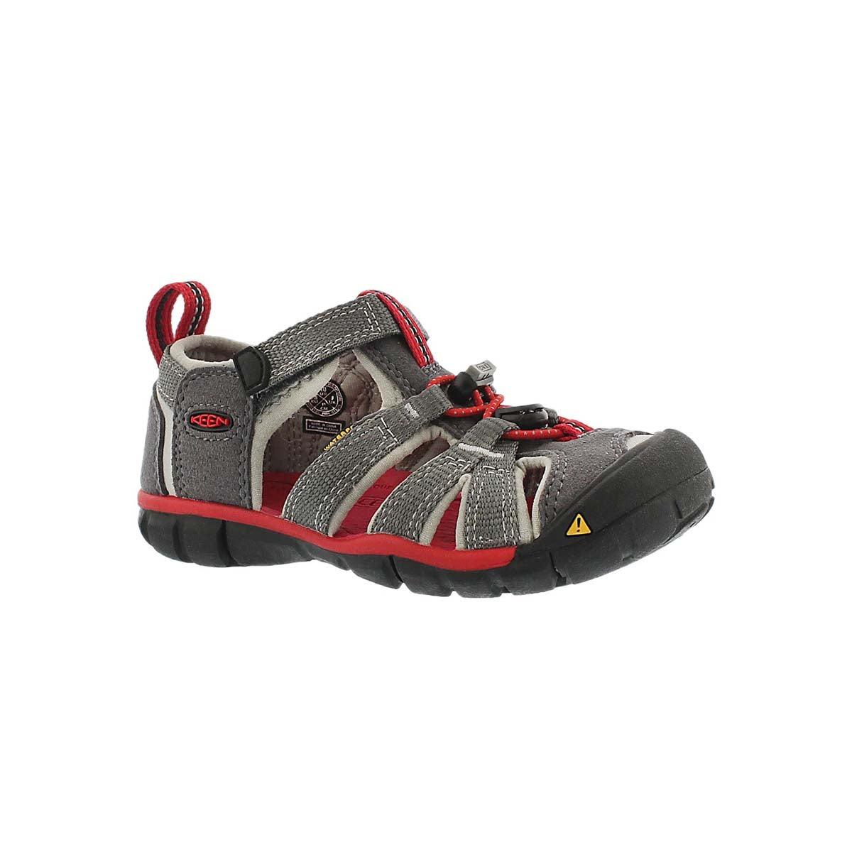 Infants' SEACAMP II grey/red sport sandals