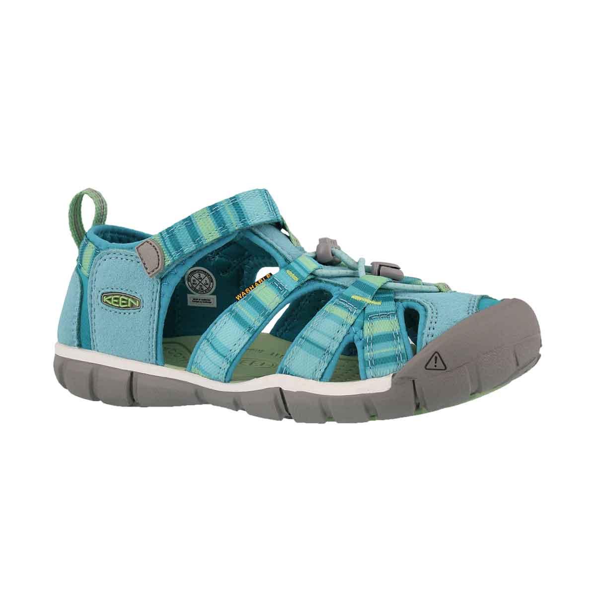 Girls' SEACAMP II pastel turquoise raya sandals