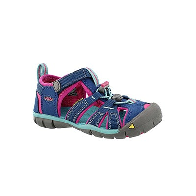 Keen Infants' SEACAMP II navy/berry sport sandals