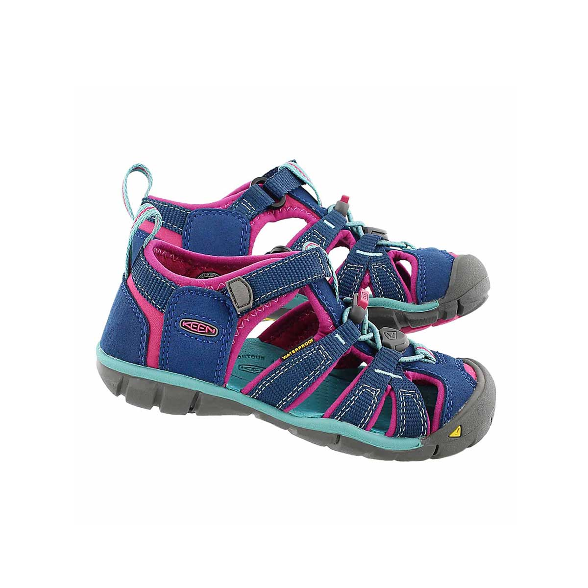 Infs-g Seacamp lI nvy/berry sport sandal
