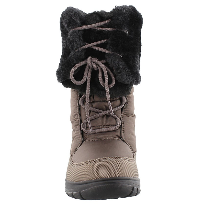 Lds Seattle brn lace-up winter boot