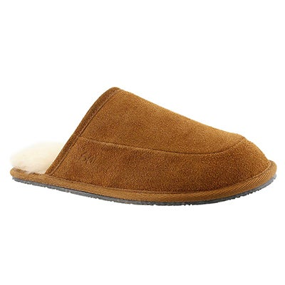 SoftMoc Men's SETH chestnut memory foam slippers