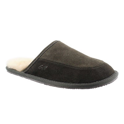SoftMoc Men's SETH grey memory foam slippers