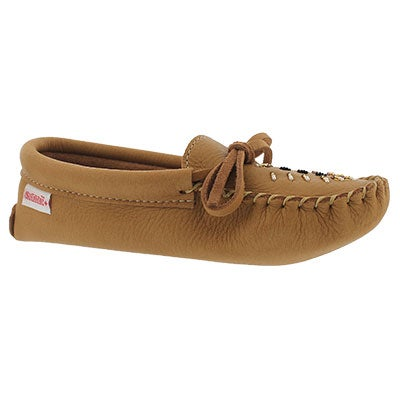 Lds crk moosehide unlined basic moccasin