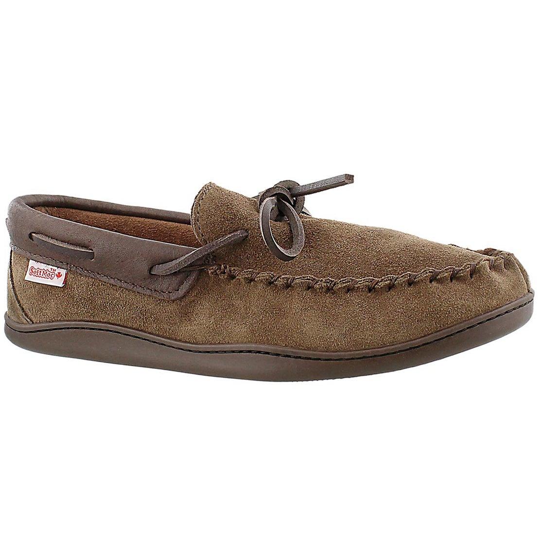 Men's SF41471 brown suede moccasins