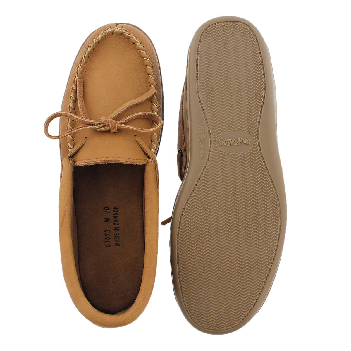 Mns cork rubber sole moosehide moccasin