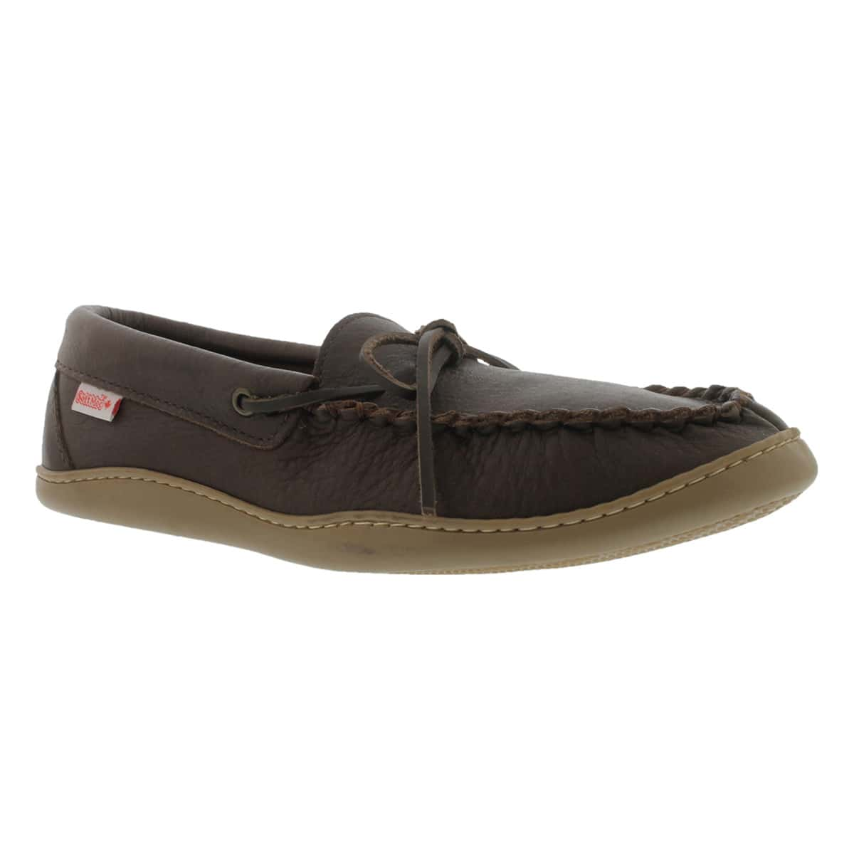 Mns fudge rubber sole moose moccasin