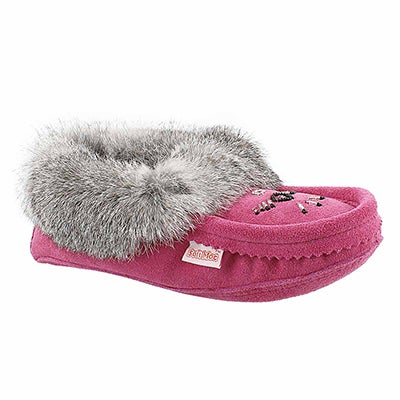 SoftMoc Women's SF600 rabbit fur moccasins