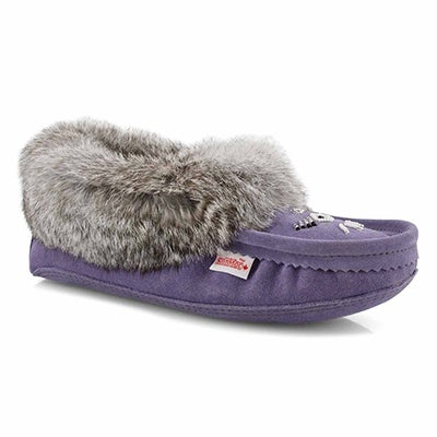 Lds lavender rabbit fur moccasin