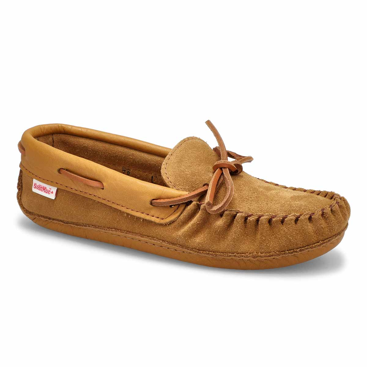 Women's SF78 dark tan memory foam moccasins