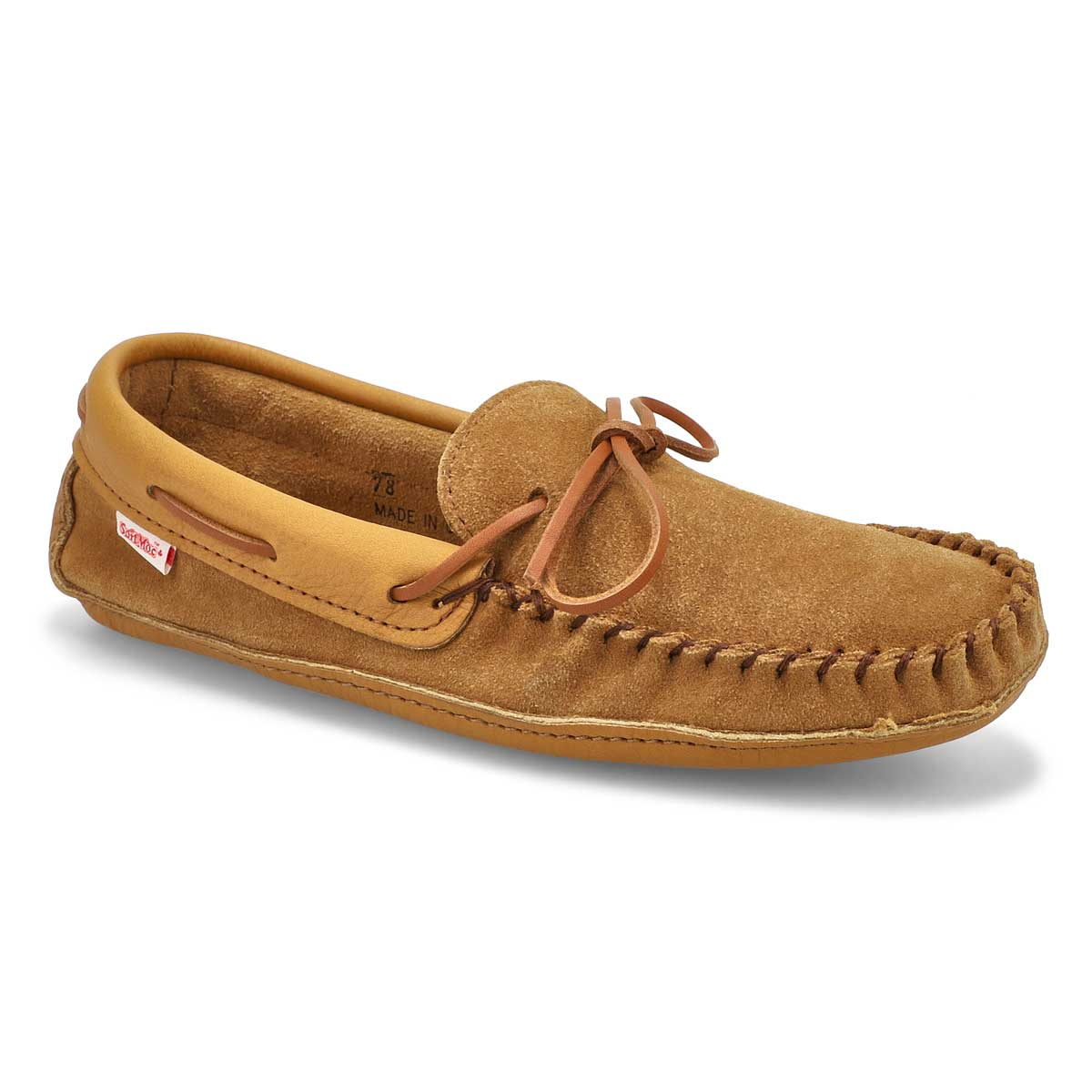 Men's SF78 dark tan memory foam moccasins