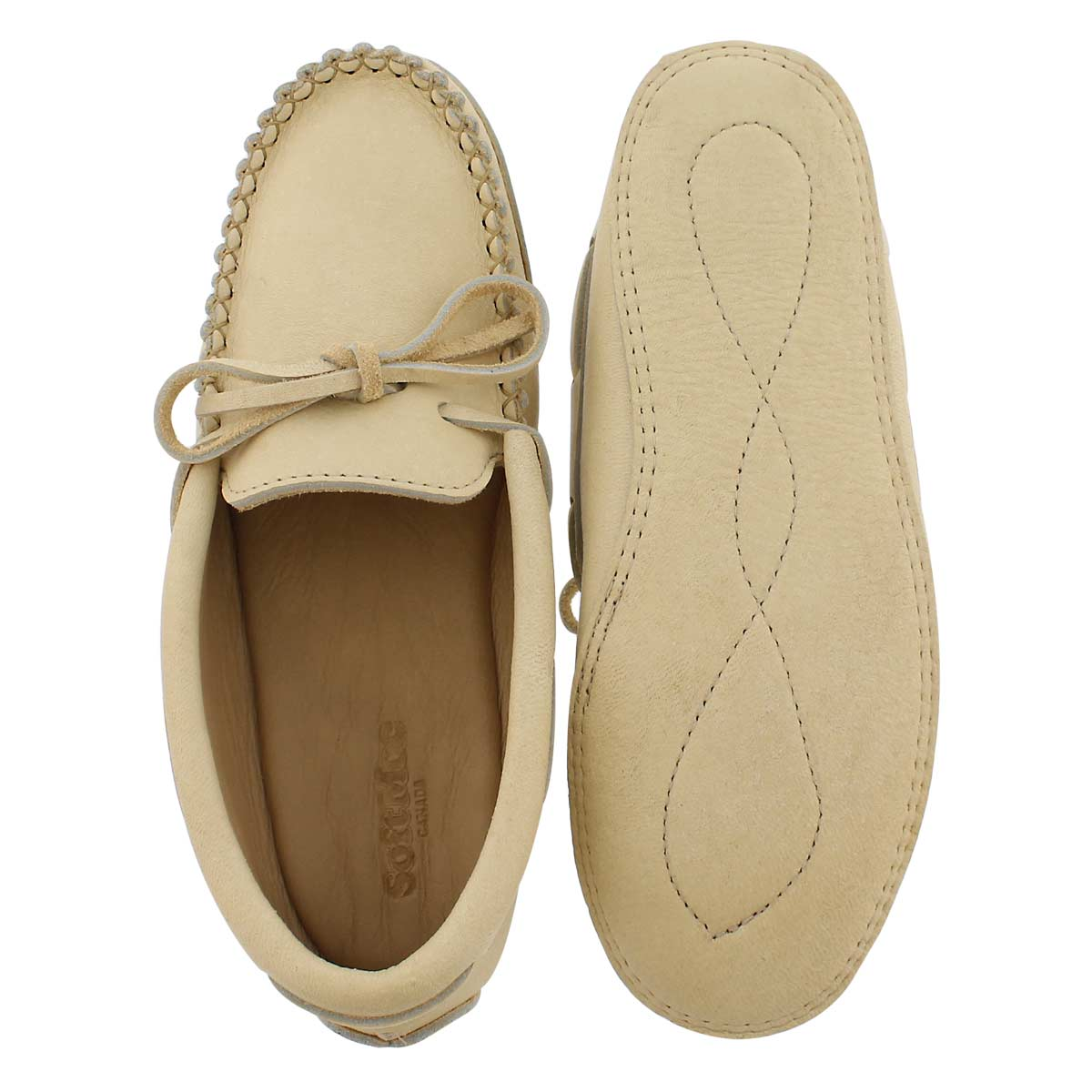 Mns natural caribou double sole moccasin
