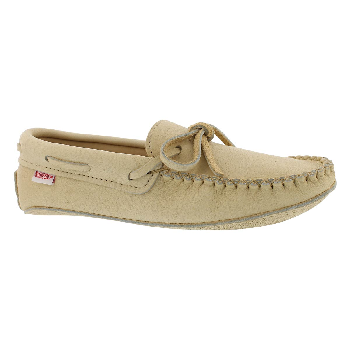 Men's natural caribou double sole moccasins