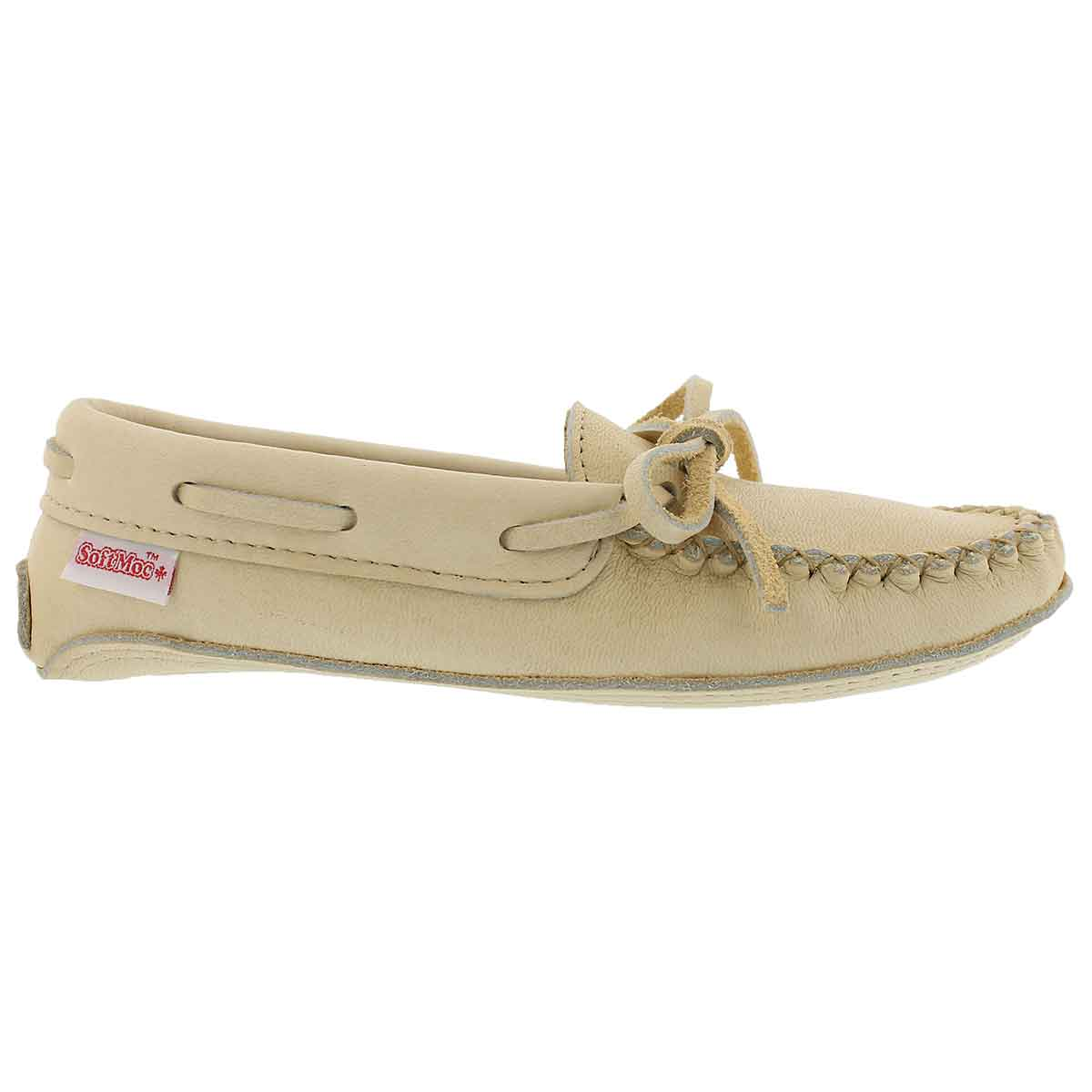 Lds natural caribou double sole moccasin