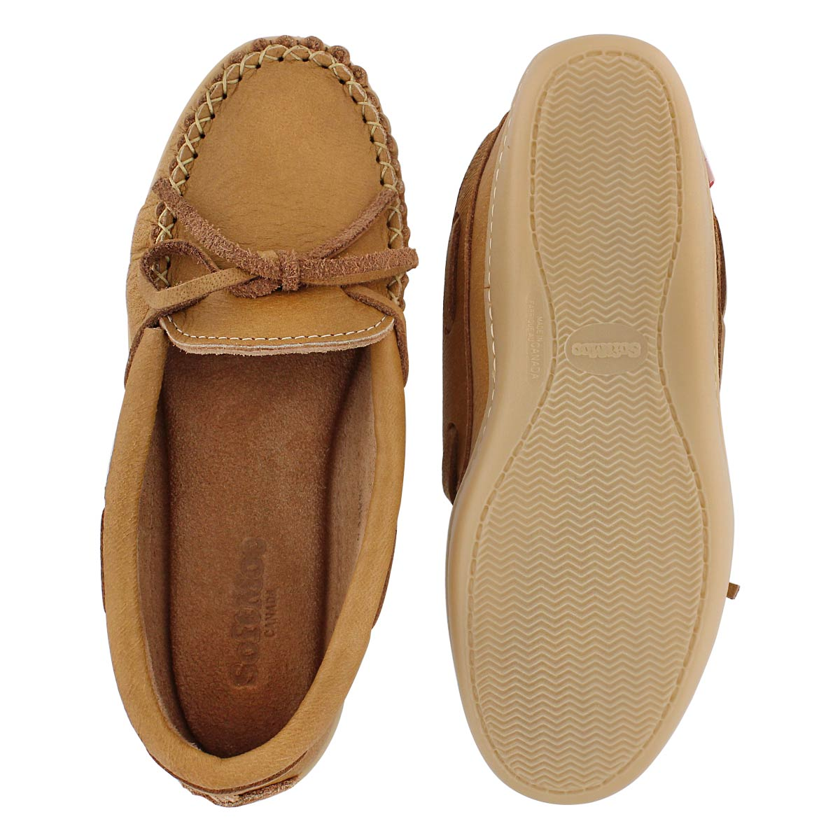 Lds natural moose TPR sole moccasin