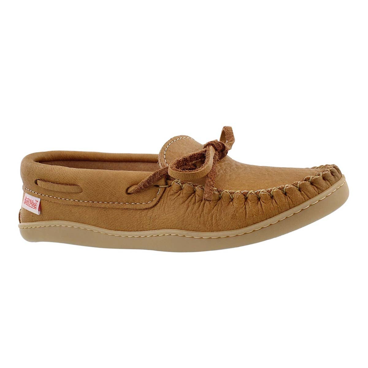 Women's natural moose TPR sole moccasin
