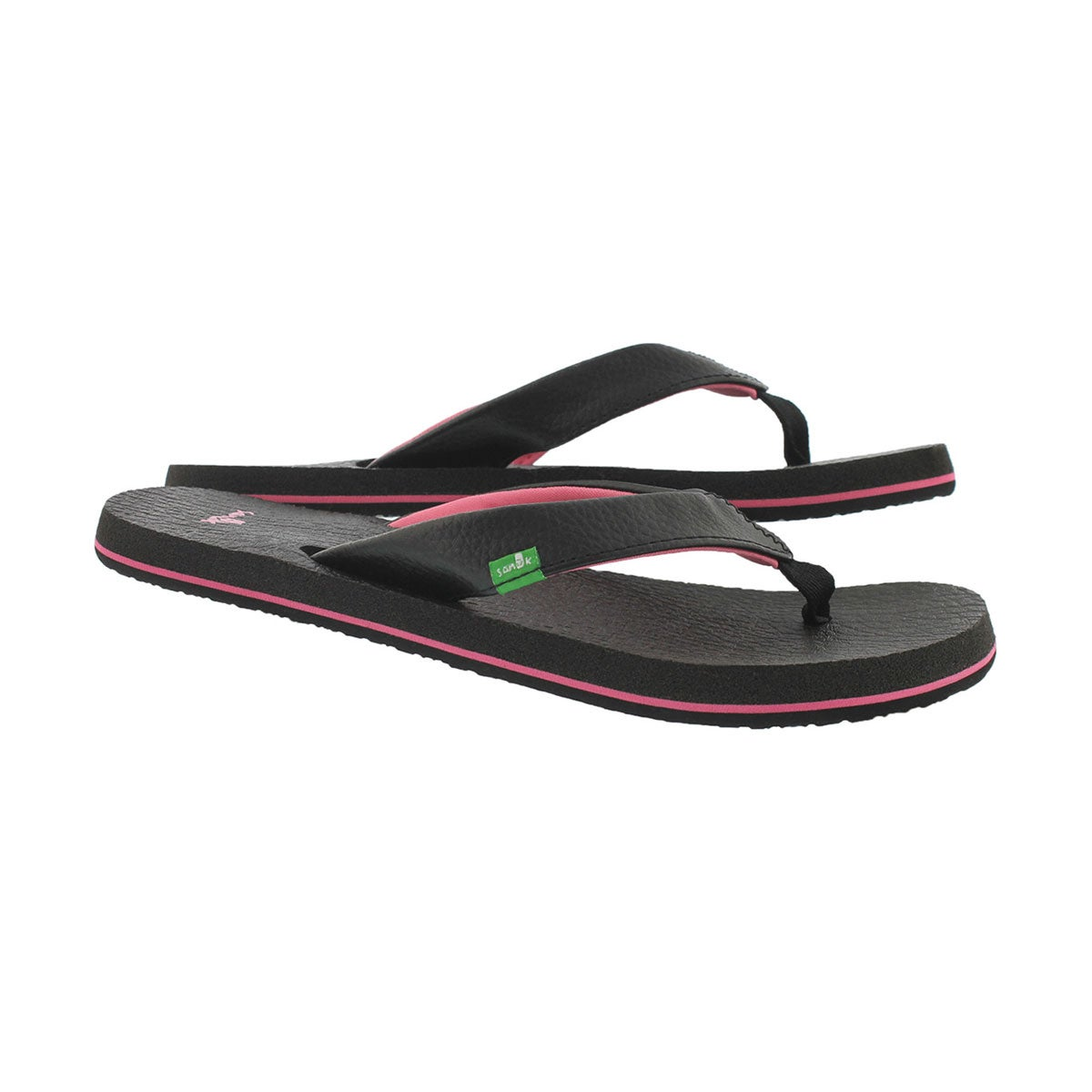 Grls Yoga Mat black/pink flip flop