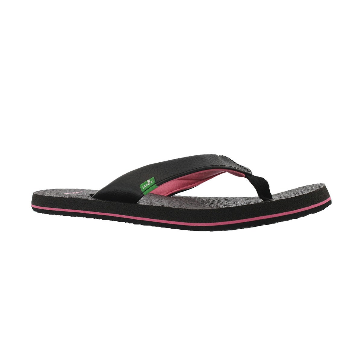 Girls' YOGA MAT black/pink flip flops
