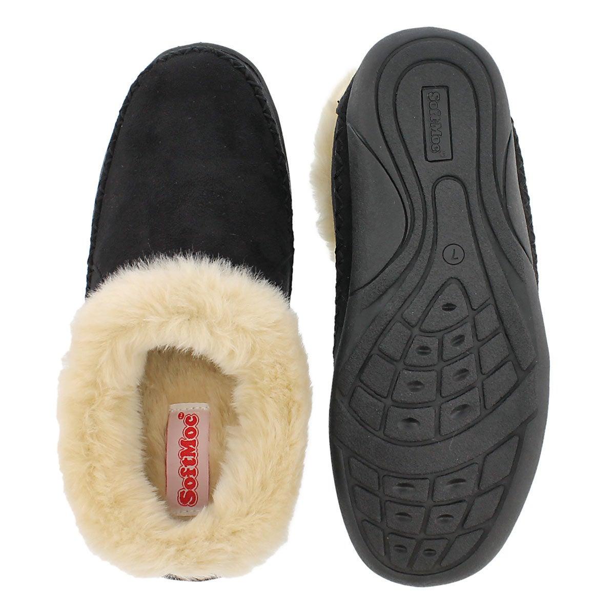 Lds Shae black slip on bootie