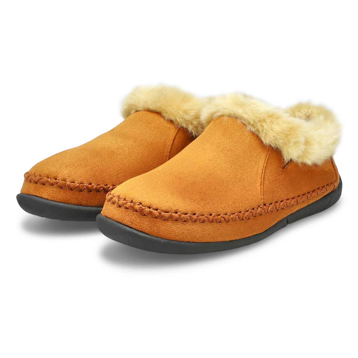 Lds Shae camel slip on bootie