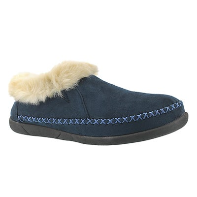 SoftMoc Women's SHAE navy slip on booties