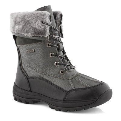 Lds Shakira 3 grey wp foldover cuff boot