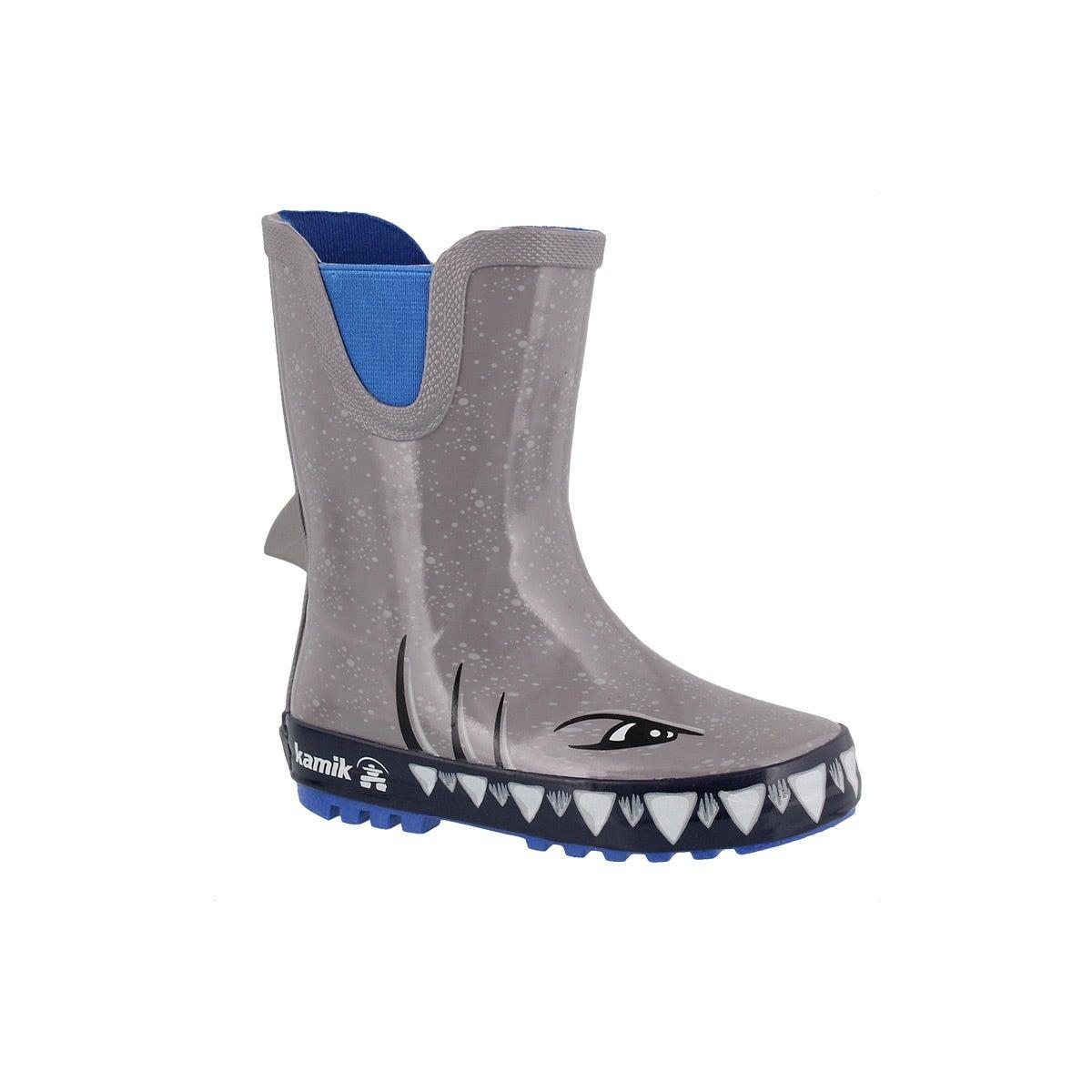 Infants' SHARKY grey waterproof rain boots