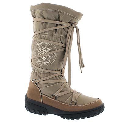 Superfit Women's SHAYNE sand waterproof tall winter boots