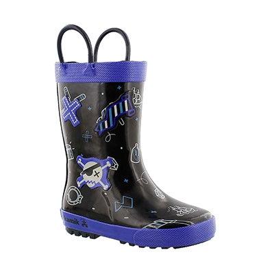 Kamik Bottes de pluie SHIPWRECK, imprimé noir, garçons