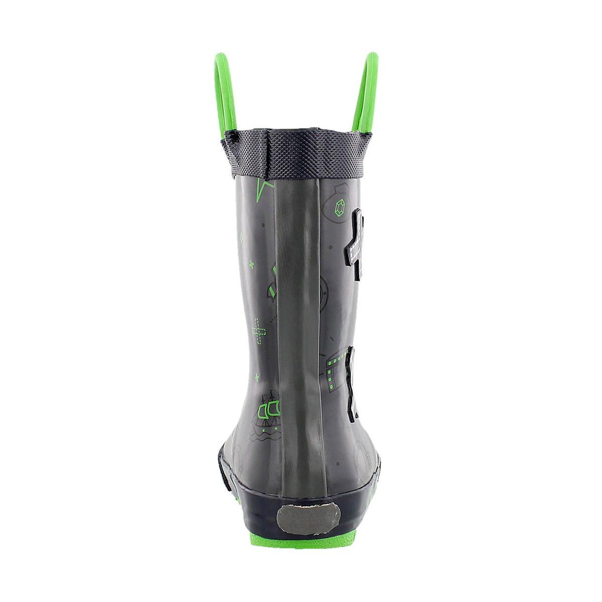 Bys Shipwreck lt grey printed rain boot
