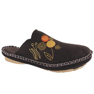 Foamtreads Women's SHIRE chocolate open back slippers