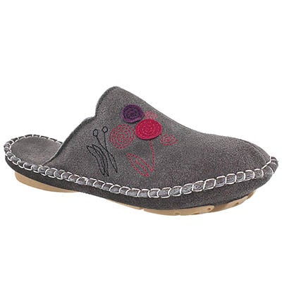 Foamtreads Women's SHIRE grey open back slippers
