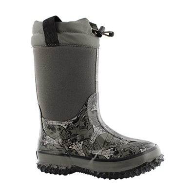 Bys Shuttle blk wtpf pull on winter boot