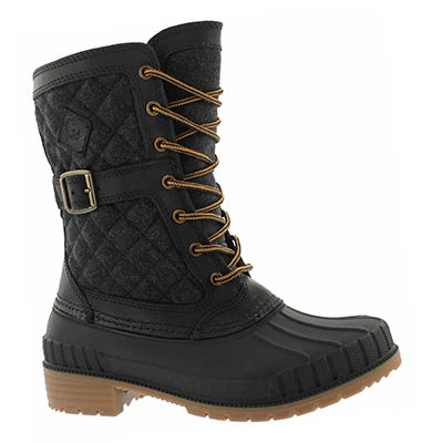 Lds Sienna black laceup wtpf snow boot