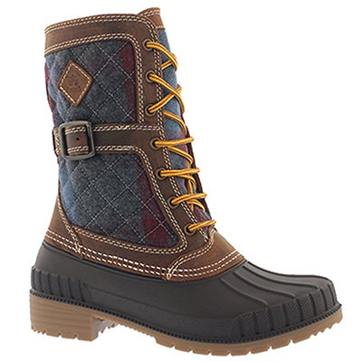 Lds Sienna brown laceup wtpf snow boot