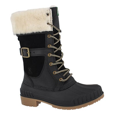 Lds SiennaF black wtpf snow boot