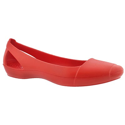 Crocs Women's SIENNA flame slip on flats