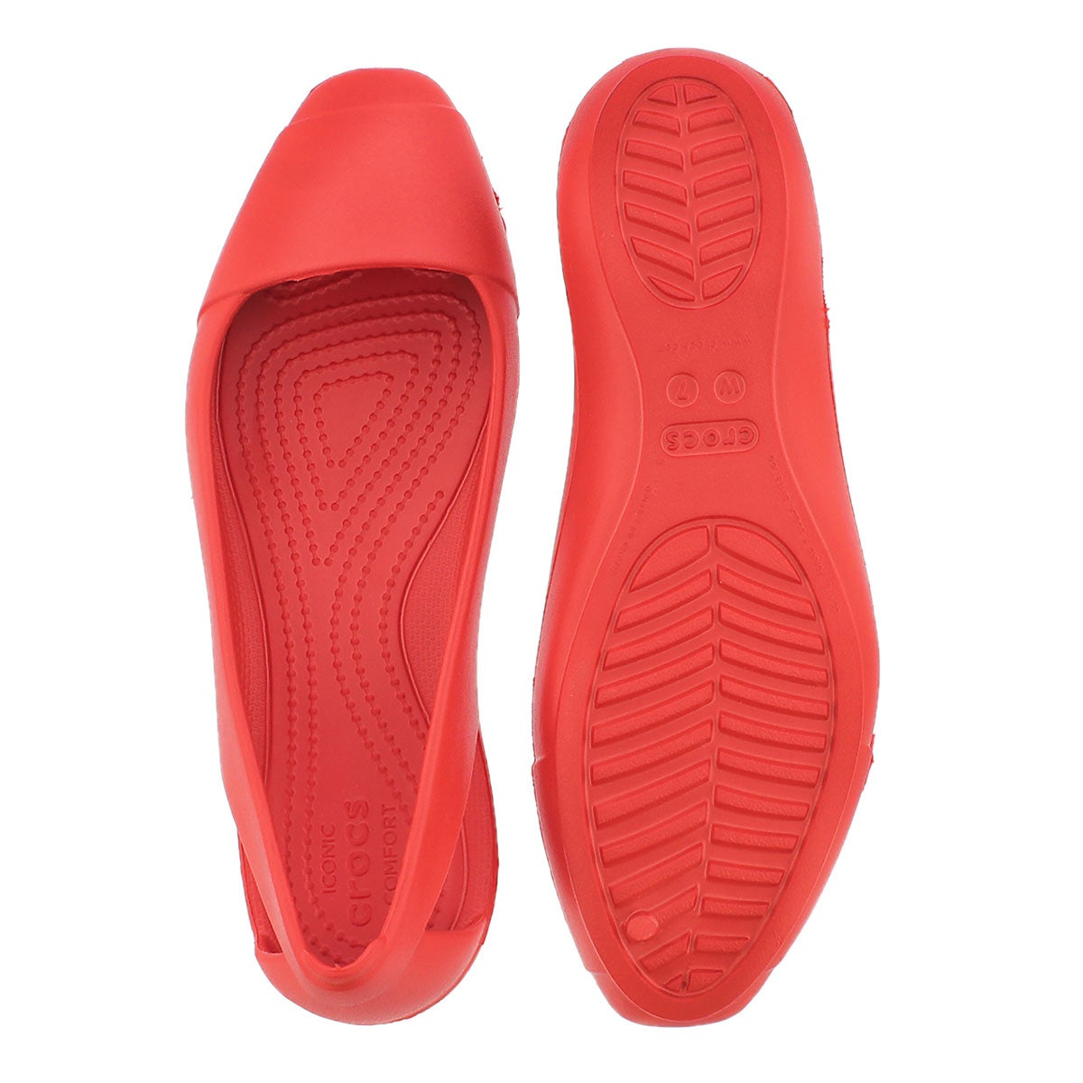 Lds Sienna flame slip on flat