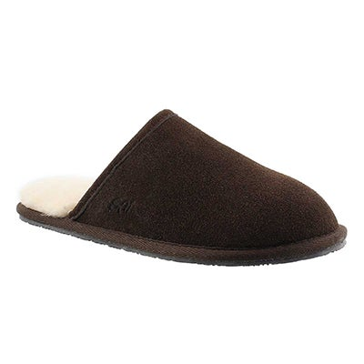 SoftMoc Men's SIMON chocolate memory foam slippers