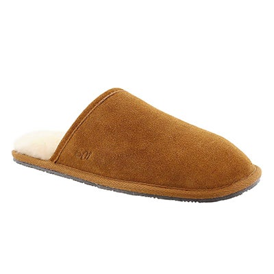 SoftMoc Men's SIMON chestnut memory foam slippers