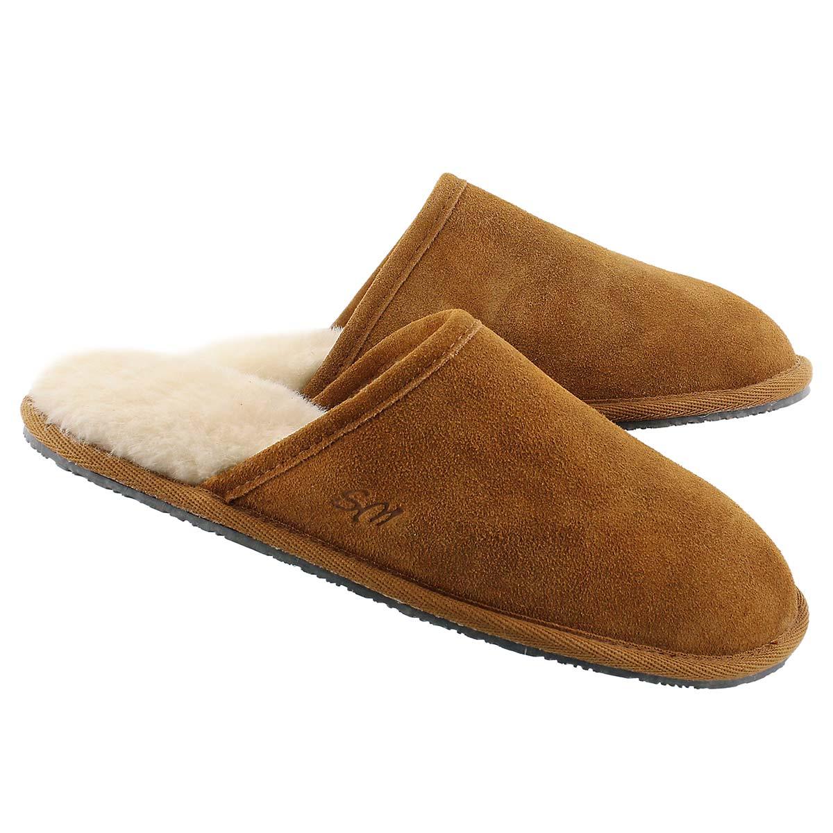 Mns Simon chestnut mem. foam slipper