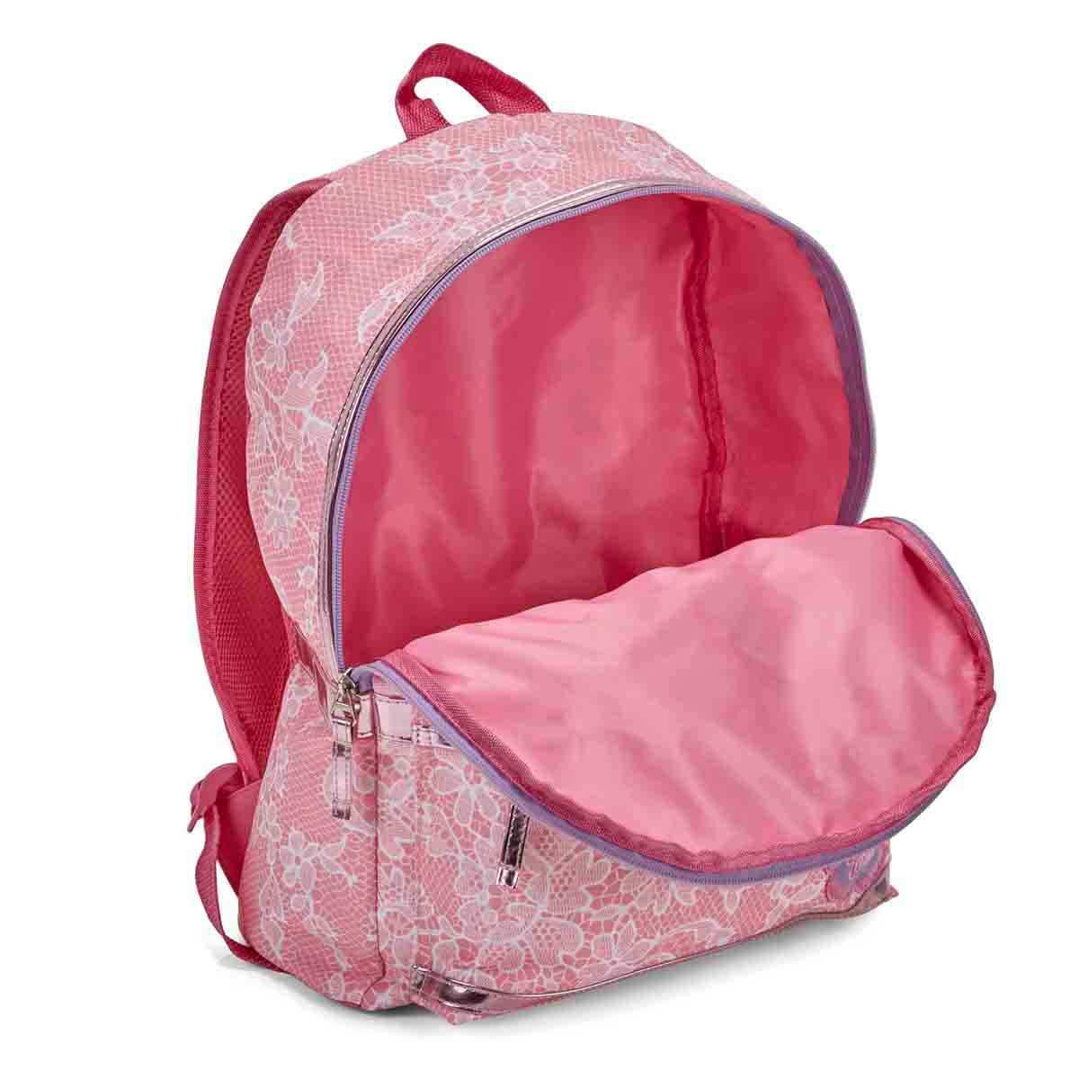 Grls Chantilly rose lace backpack
