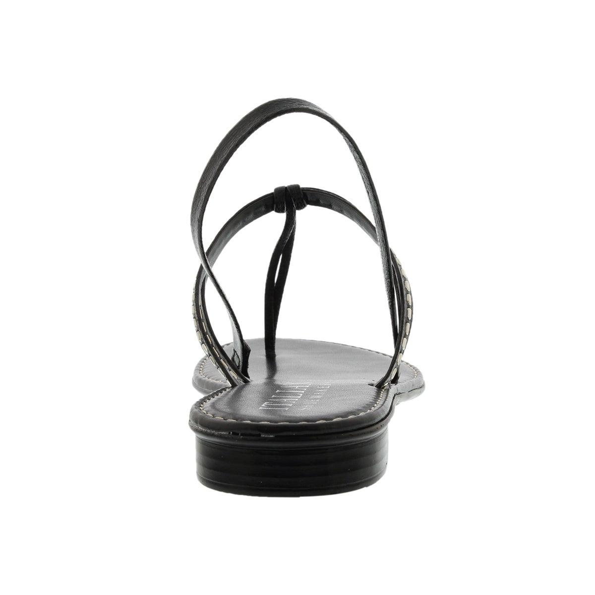 Lds Skittle black t-strap sandal