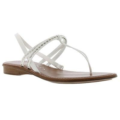 Italian Shoemakers Women's SKITTLE white T-strap sandals