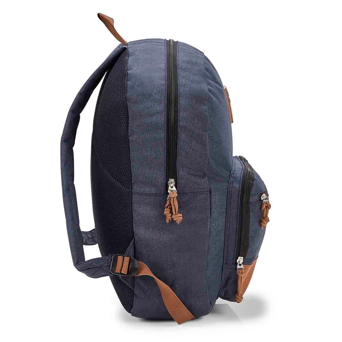 Unisex Simple Everyday Navy/Tan Backpack