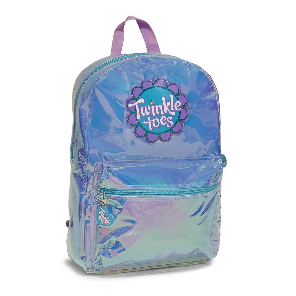 Grls Twinkle Toes Glo turq/aqua backpack