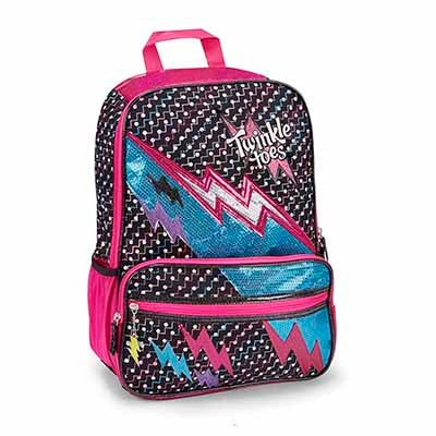 Grls Twinkle Toes lightningbolt backpack