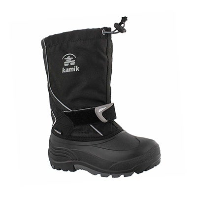 Bys Sleet blk/char pull on winter boot